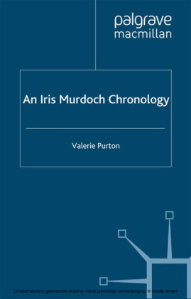 An Iris Murdoch Chronology