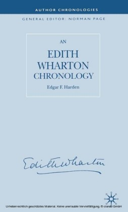 An Edith Wharton Chronology