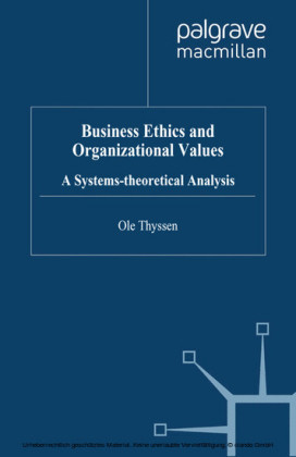 Business Ethics and Organizational Values