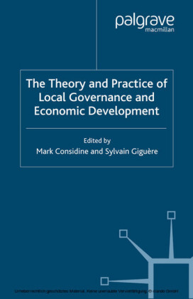 The Theory and Practice of Local Governance and Economic Development