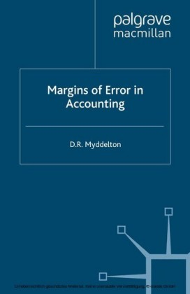 Margins of Error in Accounting