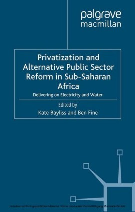 Privatization and Alternative Public Sector Reform in Sub-Saharan Africa
