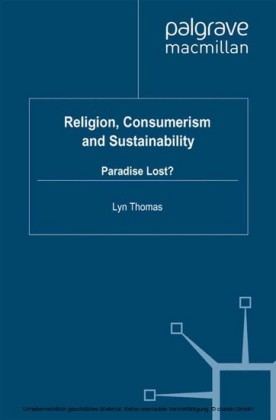 Religion, Consumerism and Sustainability
