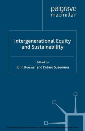 Intergenerational Equity and Sustainability