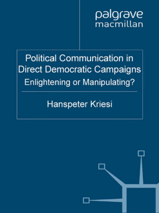 Political Communication in Direct Democratic Campaigns