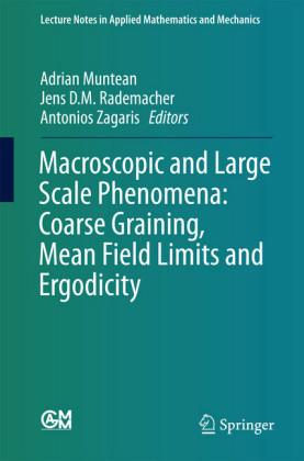 Macroscopic and Large Scale Phenomena: Coarse Graining, Mean Field Limits and Ergodicity