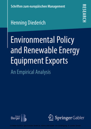 Environmental Policy and Renewable Energy Equipment Exports