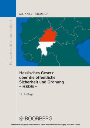 Hessisches Gesetz über die öffentliche Sicherheit und Ordnung - HSOG -
