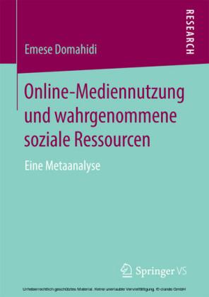 Online-Mediennutzung und wahrgenommene soziale Ressourcen