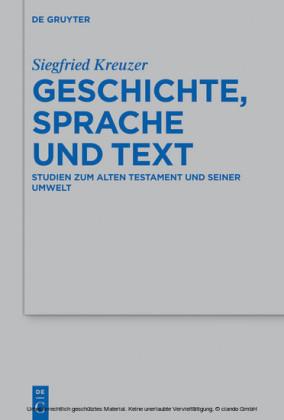 Geschichte, Sprache und Text
