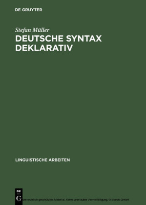 Deutsche Syntax deklarativ