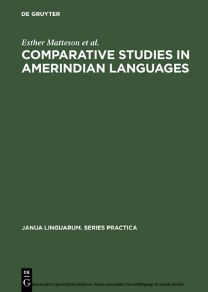 Comparative Studies in Amerindian Languages