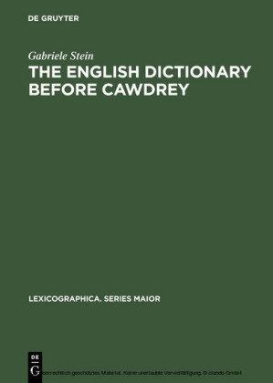The English Dictionary before Cawdrey