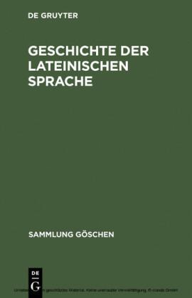Geschichte der lateinischen Sprache