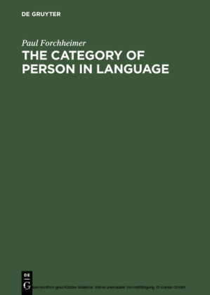 The Category of Person in Language