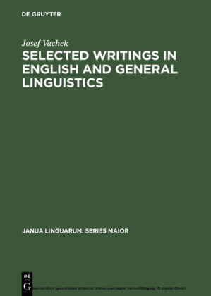 Selected Writings in English and General Linguistics