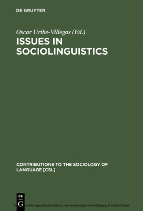 Issues in Sociolinguistics