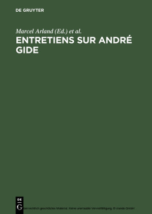 Entretiens sur André Gide