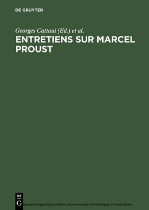 Entretiens sur Marcel Proust