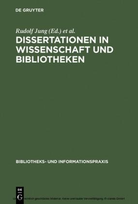 Dissertationen in Wissenschaft und Bibliotheken