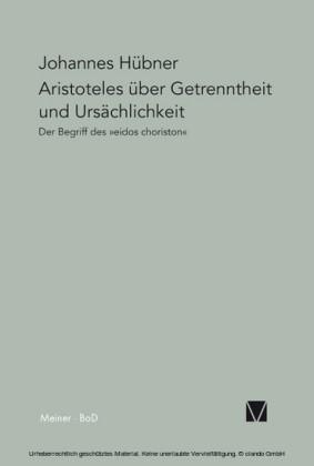 Aristoteles über Getrenntheit und Ursächlichkeit