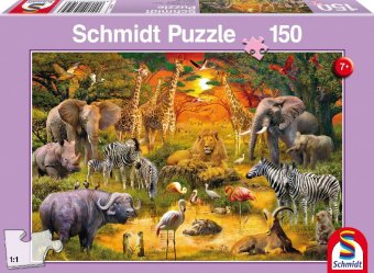 Tiere in Afrika (Kinderpuzzle)