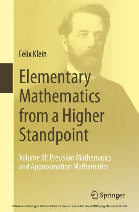 Elementary Mathematics from a Higher Standpoint