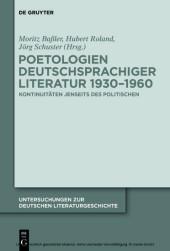 Poetologien deutschsprachiger Literatur 1930-1960