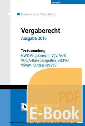 Vergaberecht - Ausgabe 2016