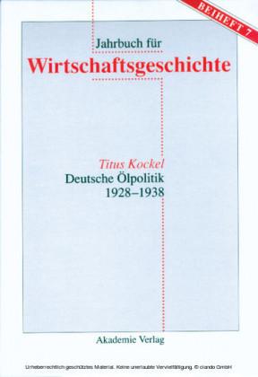 Deutsche Ölpolitik 1928-1938