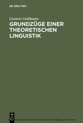 Grundzüge einer theoretischen Linguistik