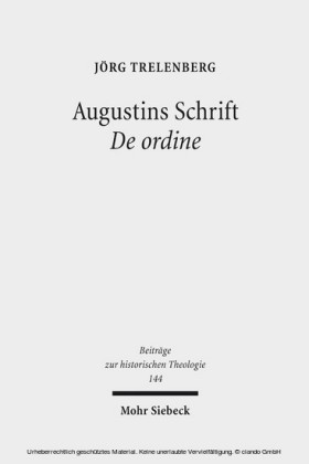 Augustins Schrift De ordine