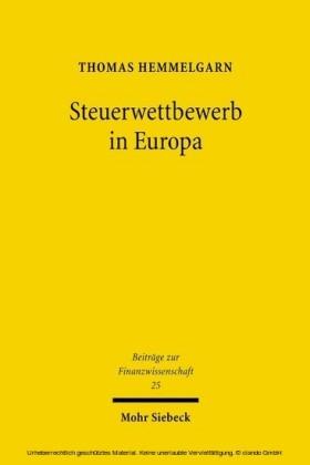 Steuerwettbewerb in Europa
