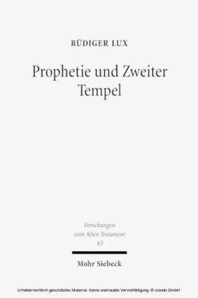 Prophetie und Zweiter Tempel