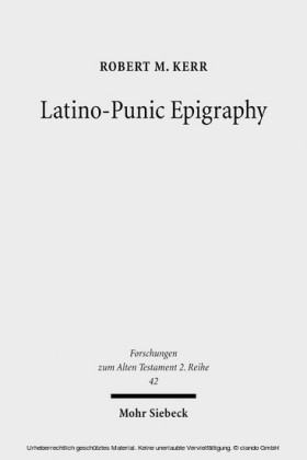 Latino-Punic Epigraphy