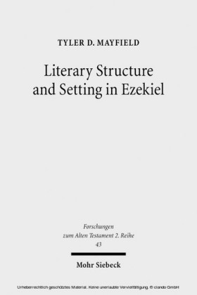 Literary Structure and Setting in Ezekiel