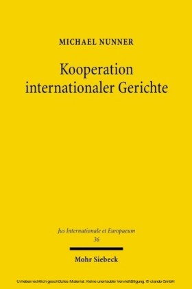 Kooperation internationaler Gerichte