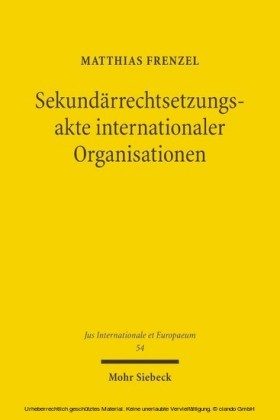 Sekundärrechtsetzungsakte internationaler Organisationen