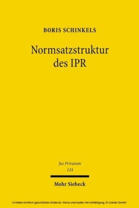 Normsatzstruktur des IPR