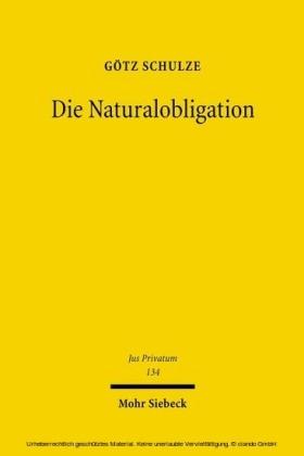 Die Naturalobligation