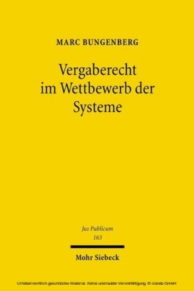 Vergaberecht im Wettbewerb der Systeme