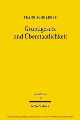 Grundgesetz und Überstaatlichkeit