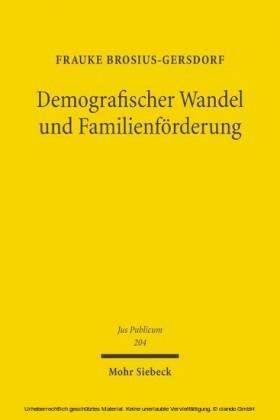 Demografischer Wandel und Familienförderung