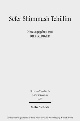 Sefer Shimmush Tehillim - Buch vom magischen Gebrauch der Psalmen