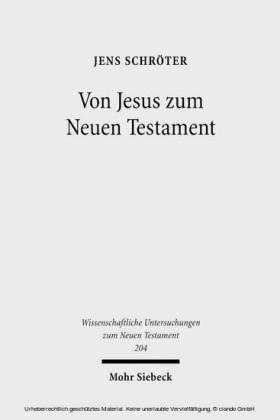 Von Jesus zum Neuen Testament