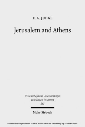 Jerusalem and Athens
