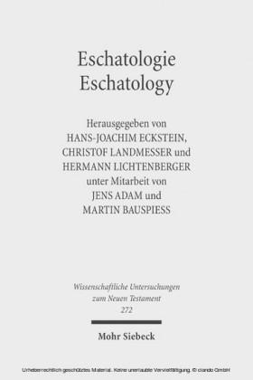 Eschatologie - Eschatology