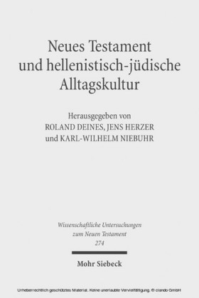 Neues Testament und hellenistisch-jüdische Alltagskultur