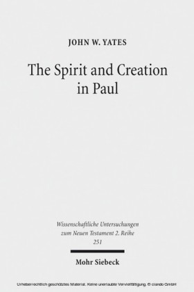 The Spirit and Creation in Paul