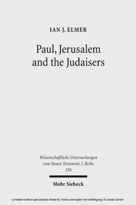 Paul, Jerusalem and the Judaisers